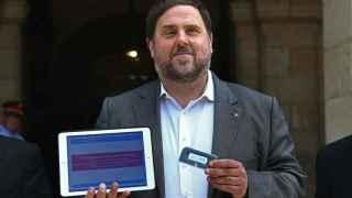 Oriol Junqueras en el Parlament donde ha presentado el Proyecto de ley de Presupuestos de la Generalitat.
