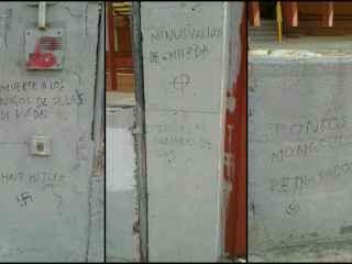 Pintadas en el colegio de Educación Especial Juan XXII de Fuenlabrada (Madrid)