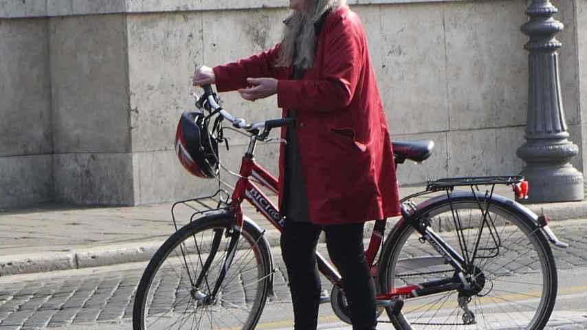 La historiadora británica Mary Beard en Roma.