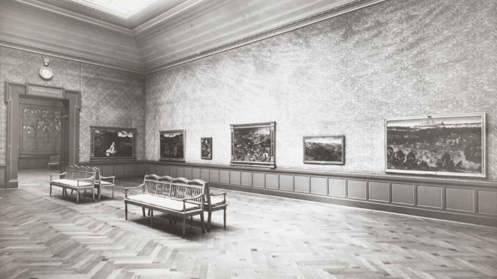 Obras maestras del Museo del Prado, en Ginebra, 1939. Bruegel el viejo, Patinir, Massys, El Bosco y Lucas Cranach el Viejo.