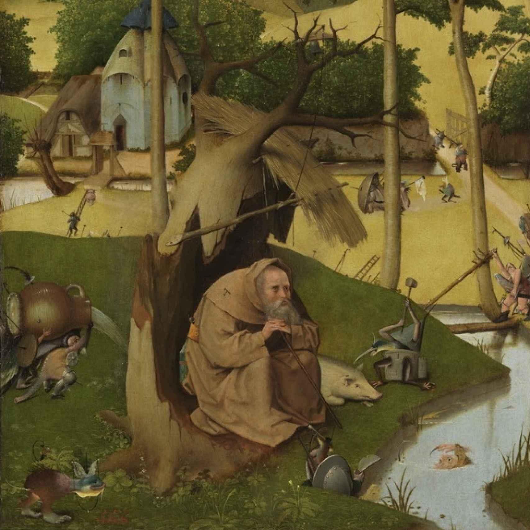 Las tentaciones de San Antonio Abad, en el Museo del Prado.