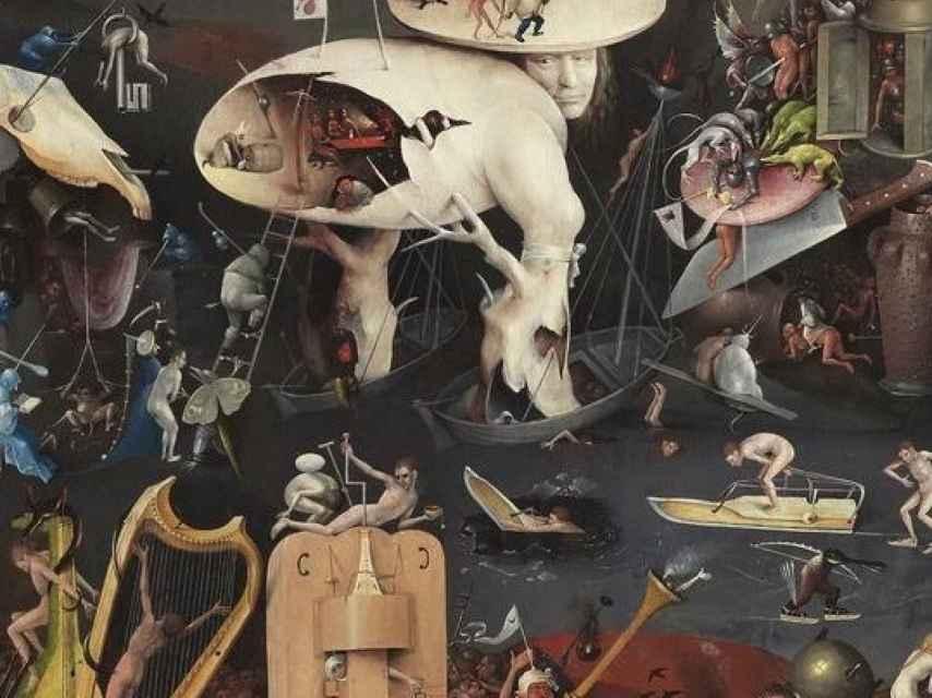 Fragmento de El jardín de las Delicias, protagonista de la próxima exposición del Prado.