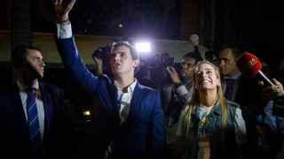 Rivera y Tintori, anoche en Caracas