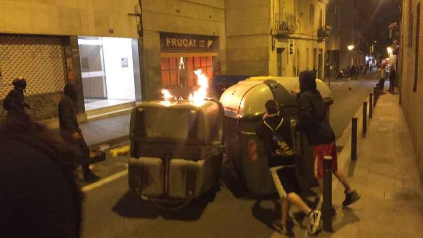 Actos vandálicos en Barcelona por tercera noche consecutiva.