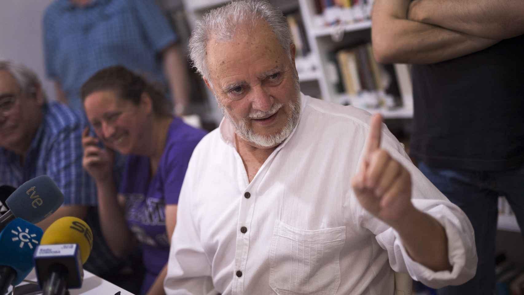 Julio Anguita, en Córdoba.