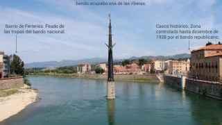 Monumento a la Batalla del Ebro en Tortosa