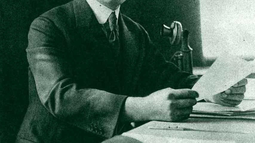 El productor Adolph Zukor, uno de los pioneros de Hollywood.