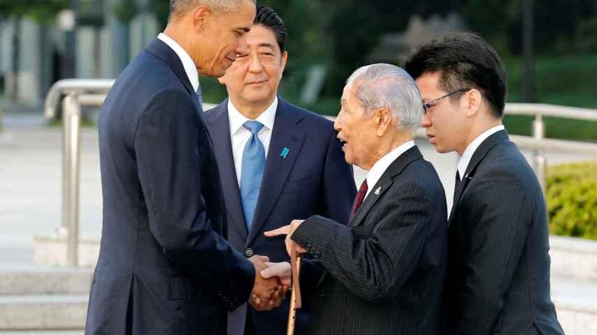 Obama se ha reunido con supervivientes del bombardeo.