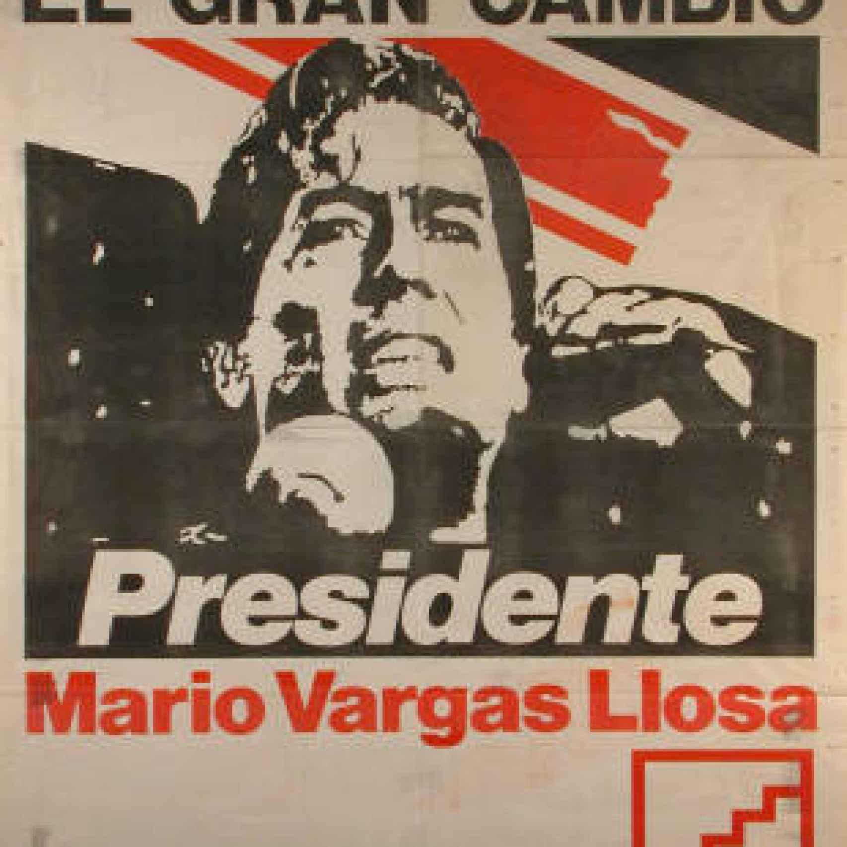 Cartel candidatura de Vargas Llosa a la presidencia de Perú en 1990