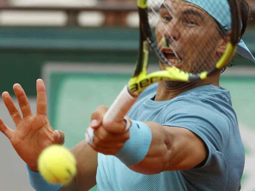 Nadal durante su último partido en esta edición de Roland Garros.