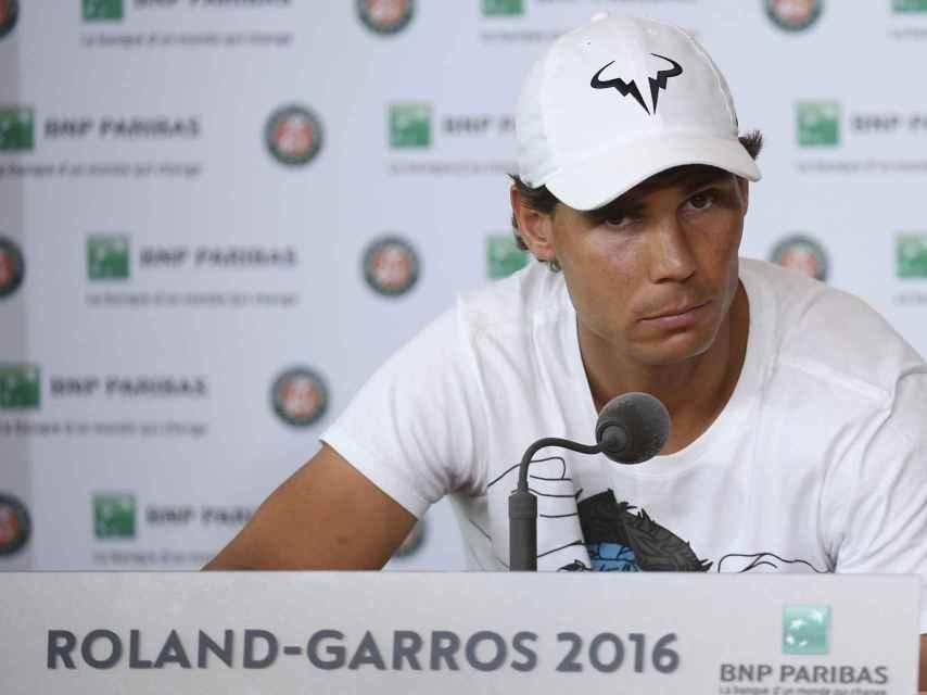 Rafa Nadal al anunciar su retirada de Roland Garros.