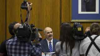 Chaves, durante su comparecencia en el Parlamento