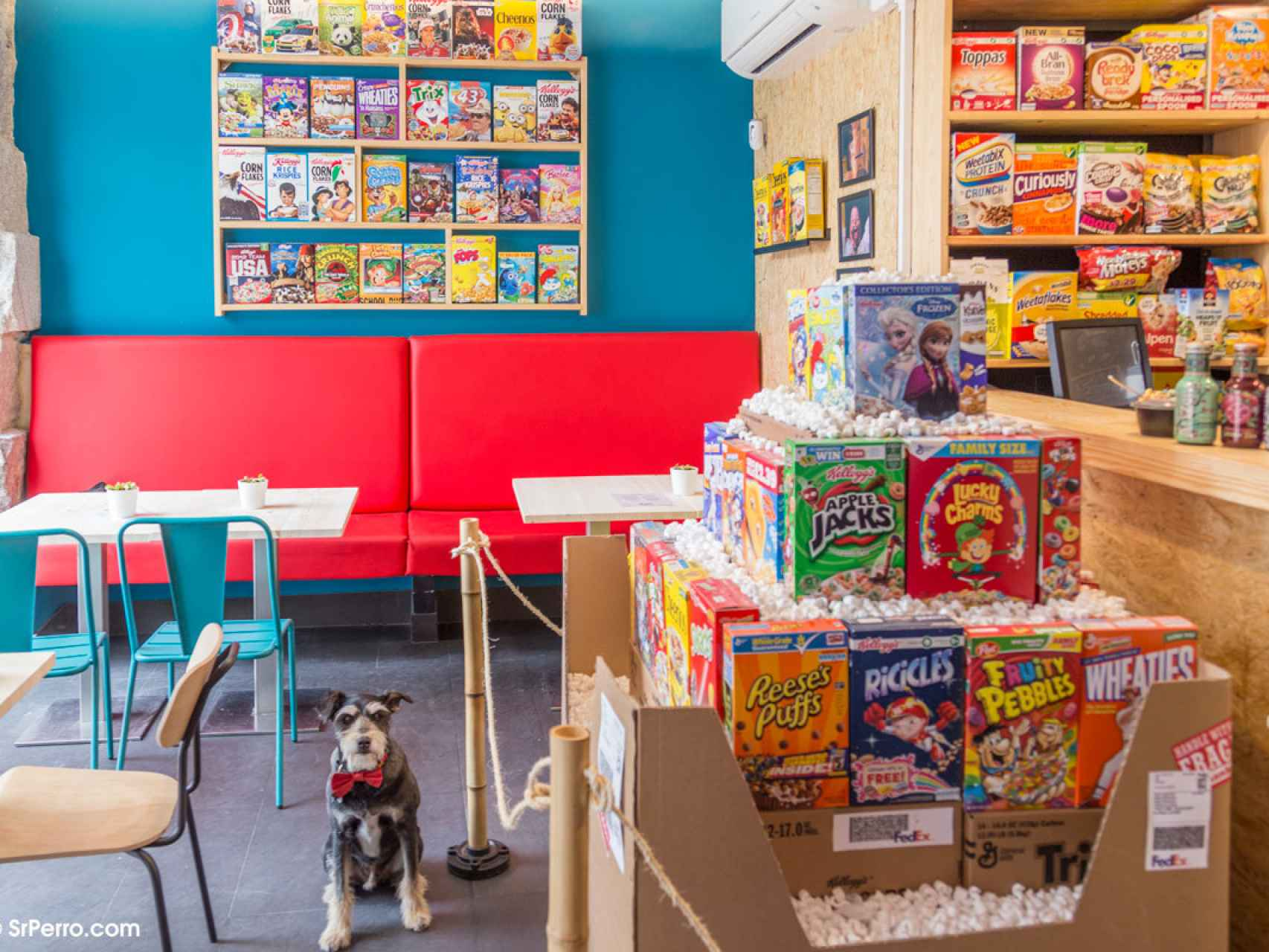 Colega en Cereal Hunters Café, un bar... ¡de cereales!
