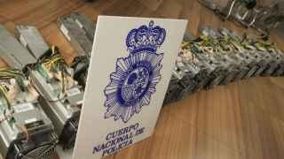 Material intervenido en la operación de la Policía en la que se remarcó la minería de bicoins.