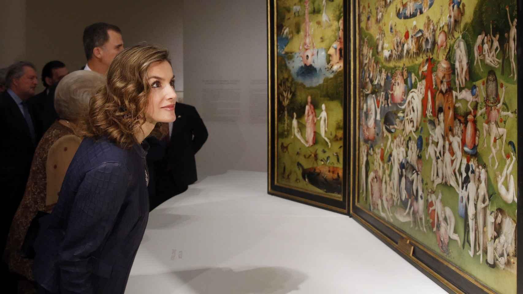 La reina Letizia en la exposición de El Bosco