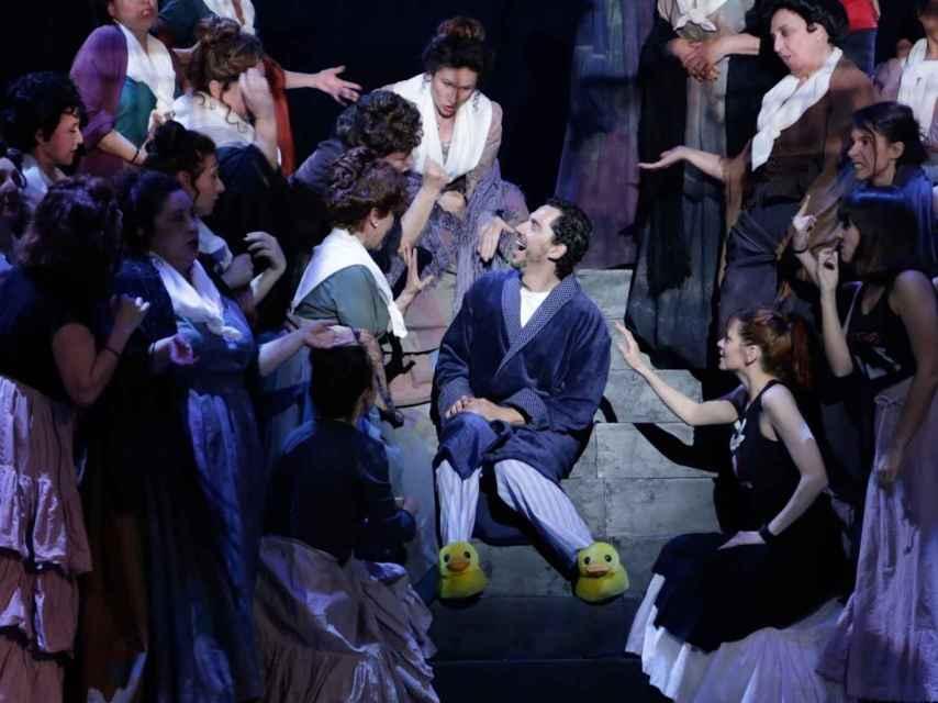 Un momento del espectáculo, con Paco León como protagonista.