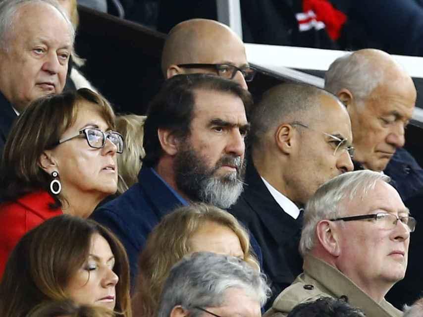 Cantona, en el Manchester United-Leicester.