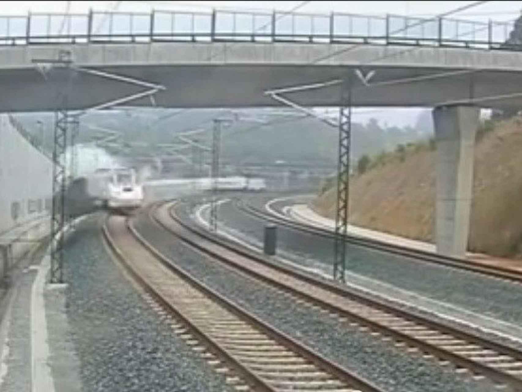 Captura 10 del vídeo del accidente del tren Alvia 730