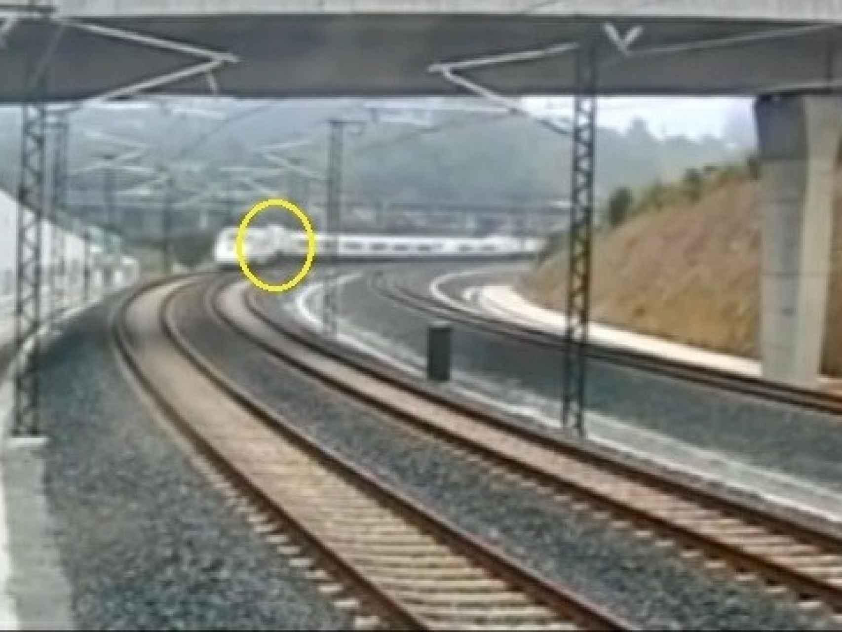 Captura 12 del vídeo del accidente del tren Alvia 730