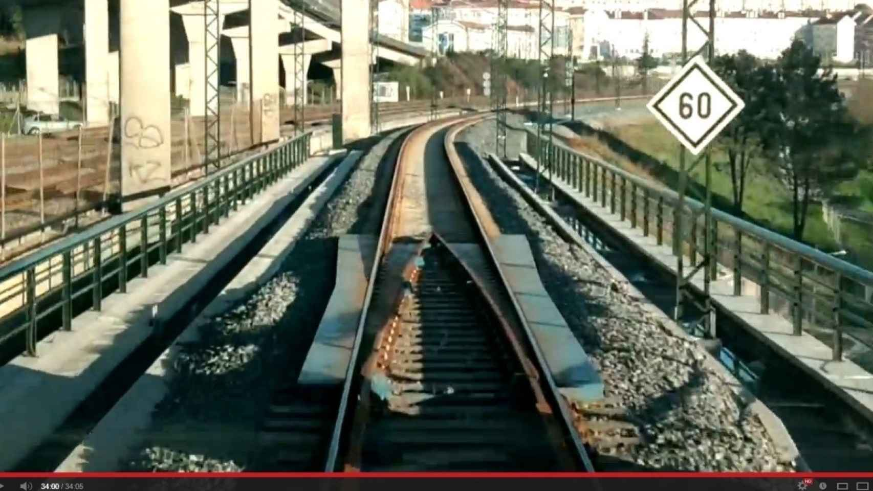 Captura del vídeo del accidente del tren Alvia 730
