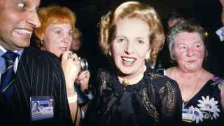 Prime Minister Margaret Thatcher during the Conservative Party Conference, 1985.