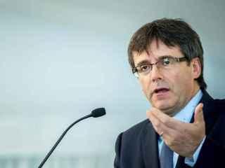 El president, la semana pasada durante una conferencia en Madrid
