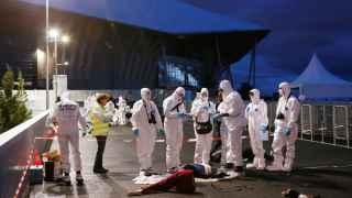 Simulacro de atentado en las cercanías del estadio de Decines en Lyon