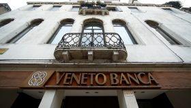 Fachada de una sucursal de Veneto Banca.
