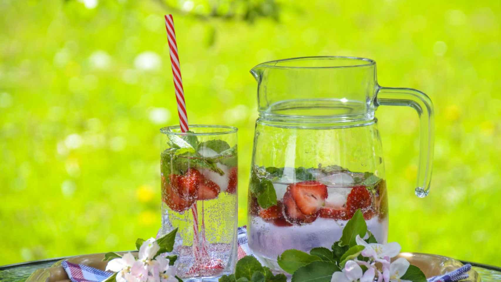 El placer de disfrutar de un refresco con tu propia cosecha. /