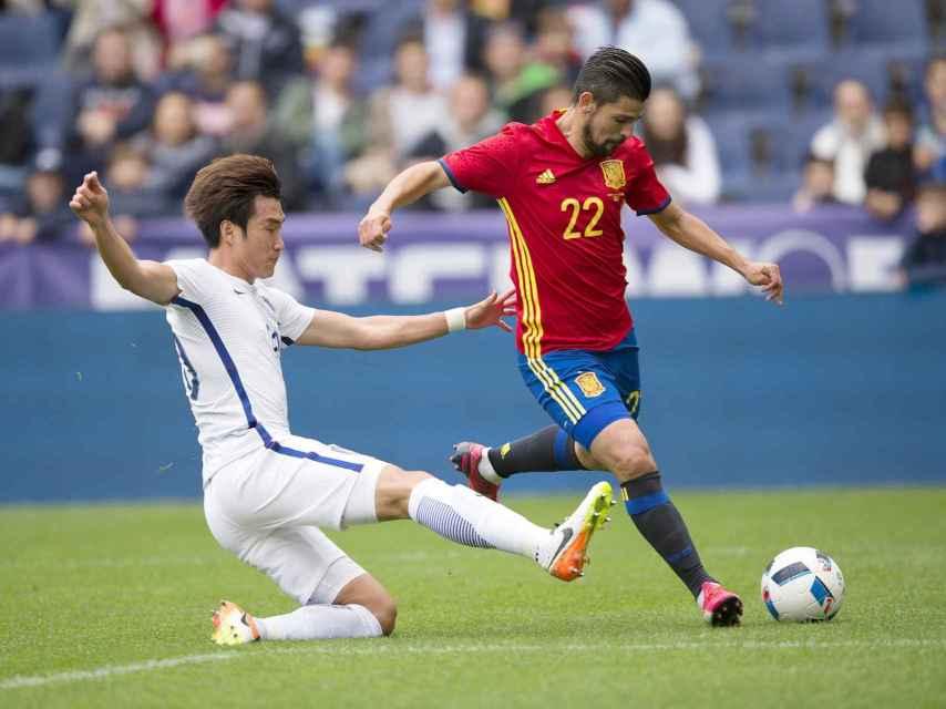 Nolito, en un lance del partido contra Corea.