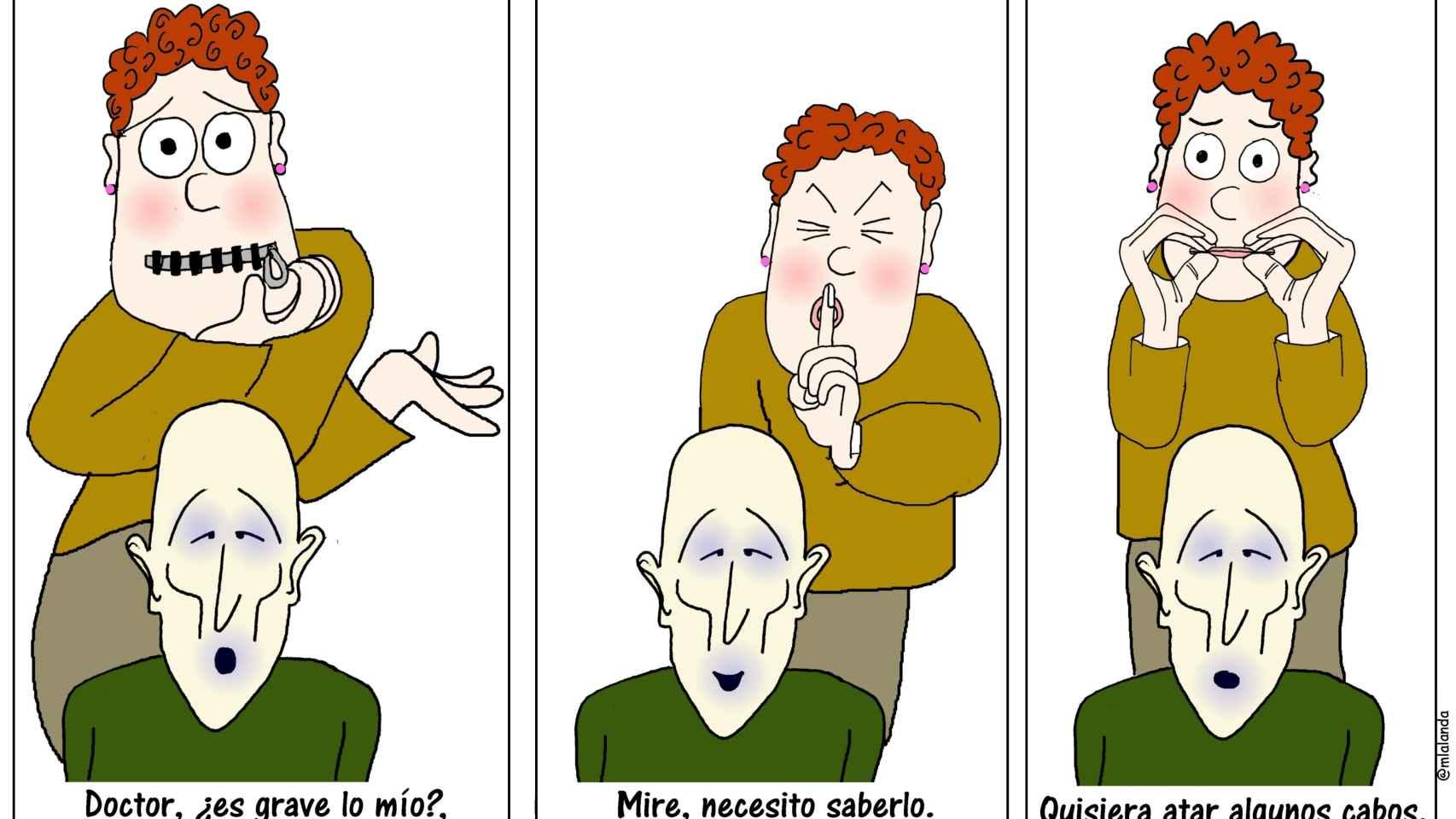 Una de las viñetas de Con-ciencia médica