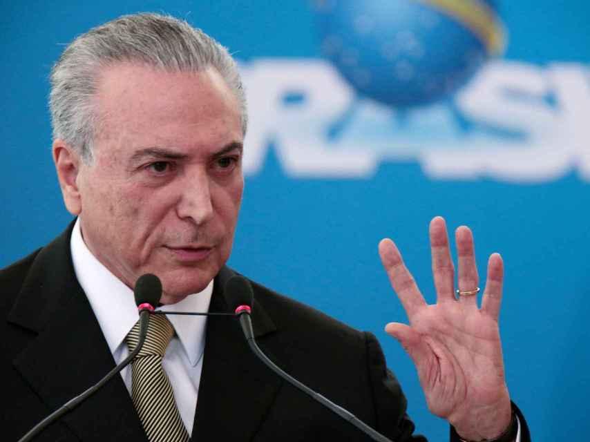 Temer asumió la presidencia tras la destitución de Rousseff.