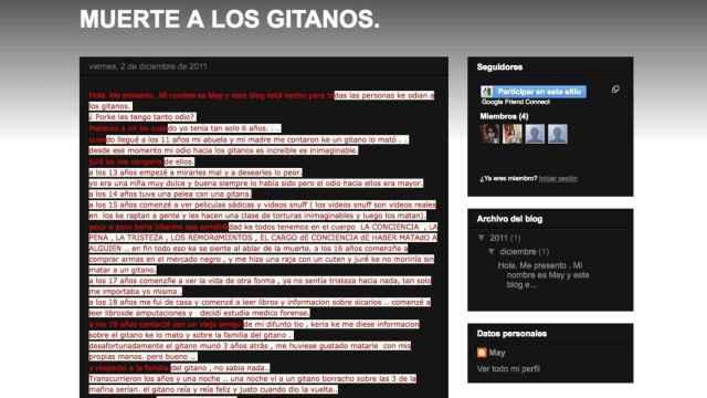 La web 'Muerte a los Gitanos' sigue activa pese a las denuncias
