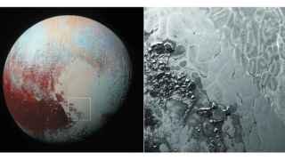 Plutón y su superficie poligonada.