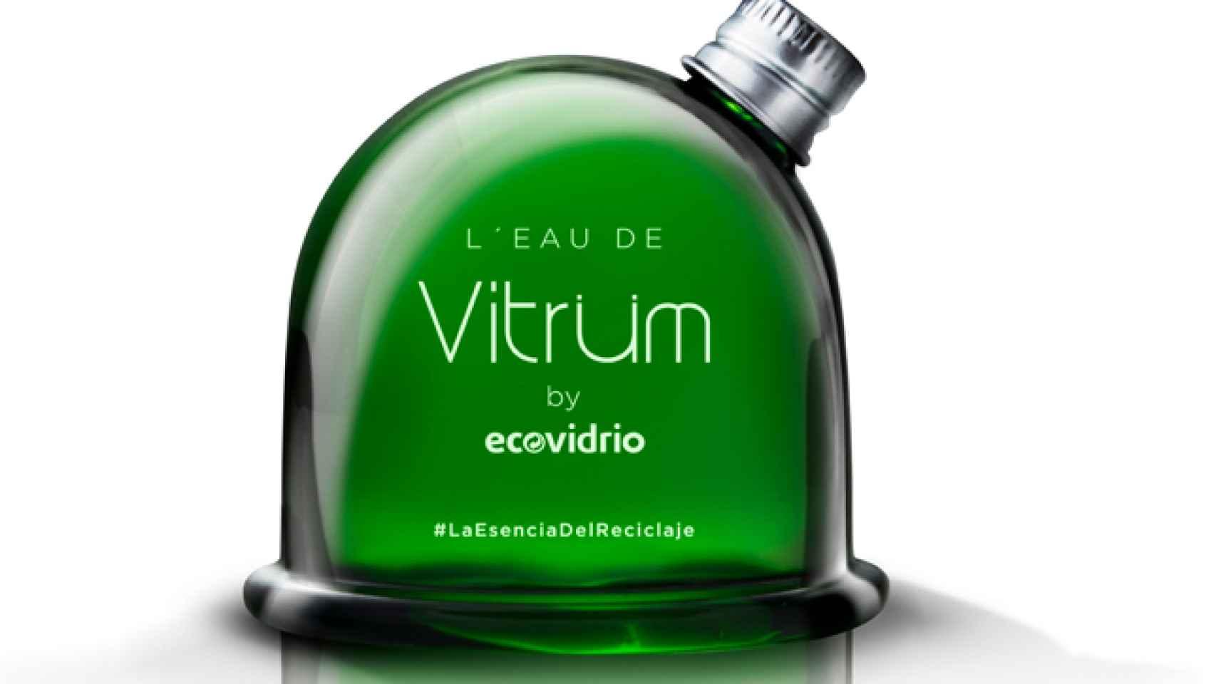 Envase de la  fragancia Vitirüm by Ecovidrio.
