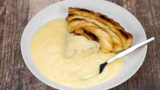 Apple Pie con custard, el irresistible postre inglés