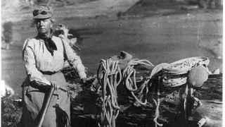 Fanny Bullock Workman y su equipo de alpinismo.