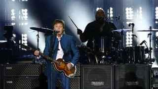 Paul McCartney en el concierto ofrecido en Madrid.