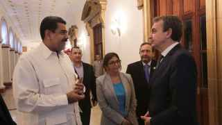 Zapatero se reunió con Nicolás Maduro en su anterior visita a Venezuela el pasado mes de mayo.