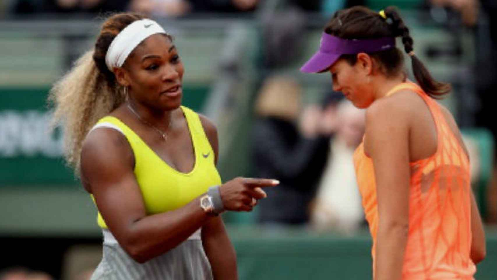 Serena Williams y Garbiñe son duras rivales