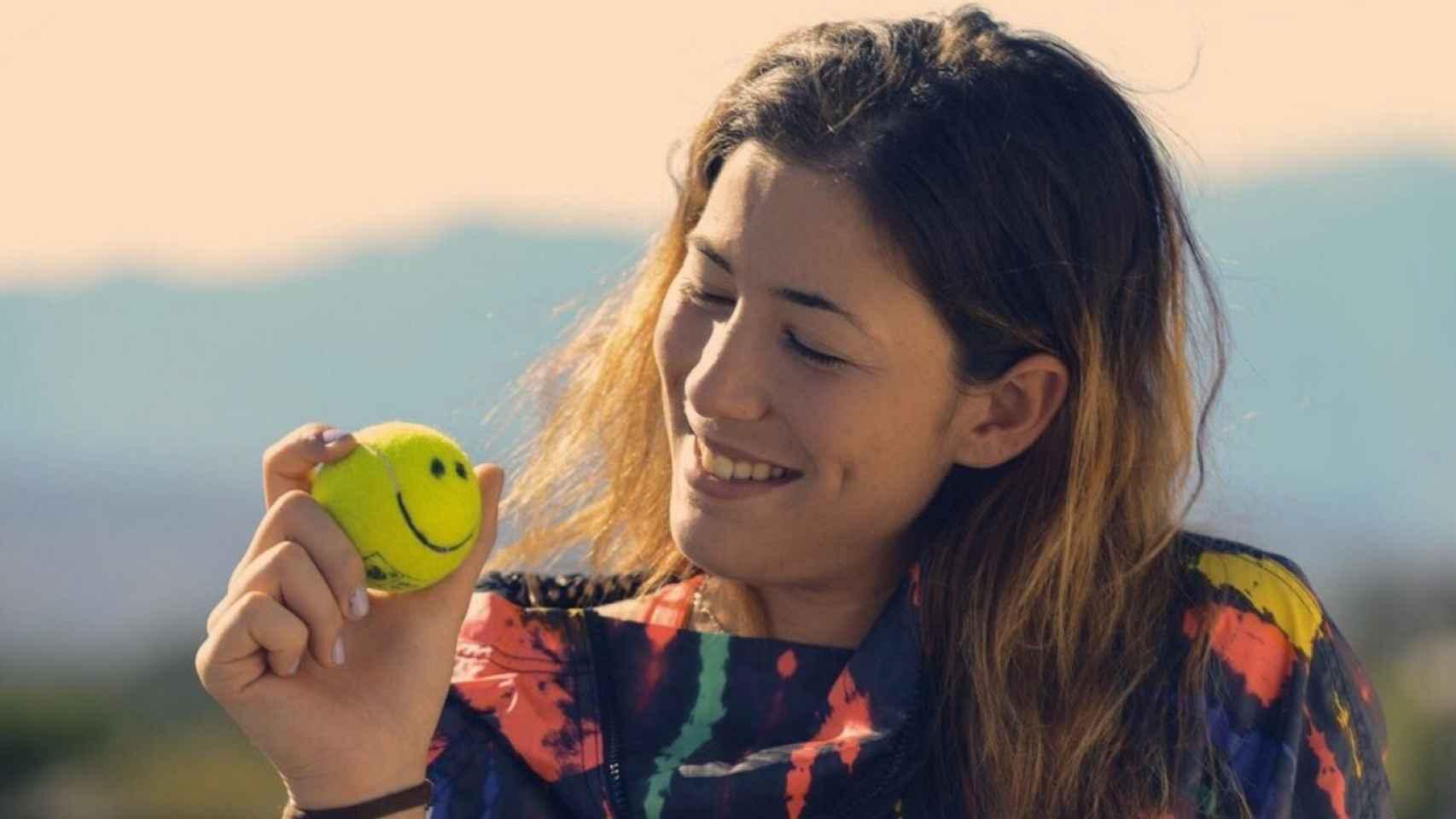 Garbiñe nunca pierde la sonrisa