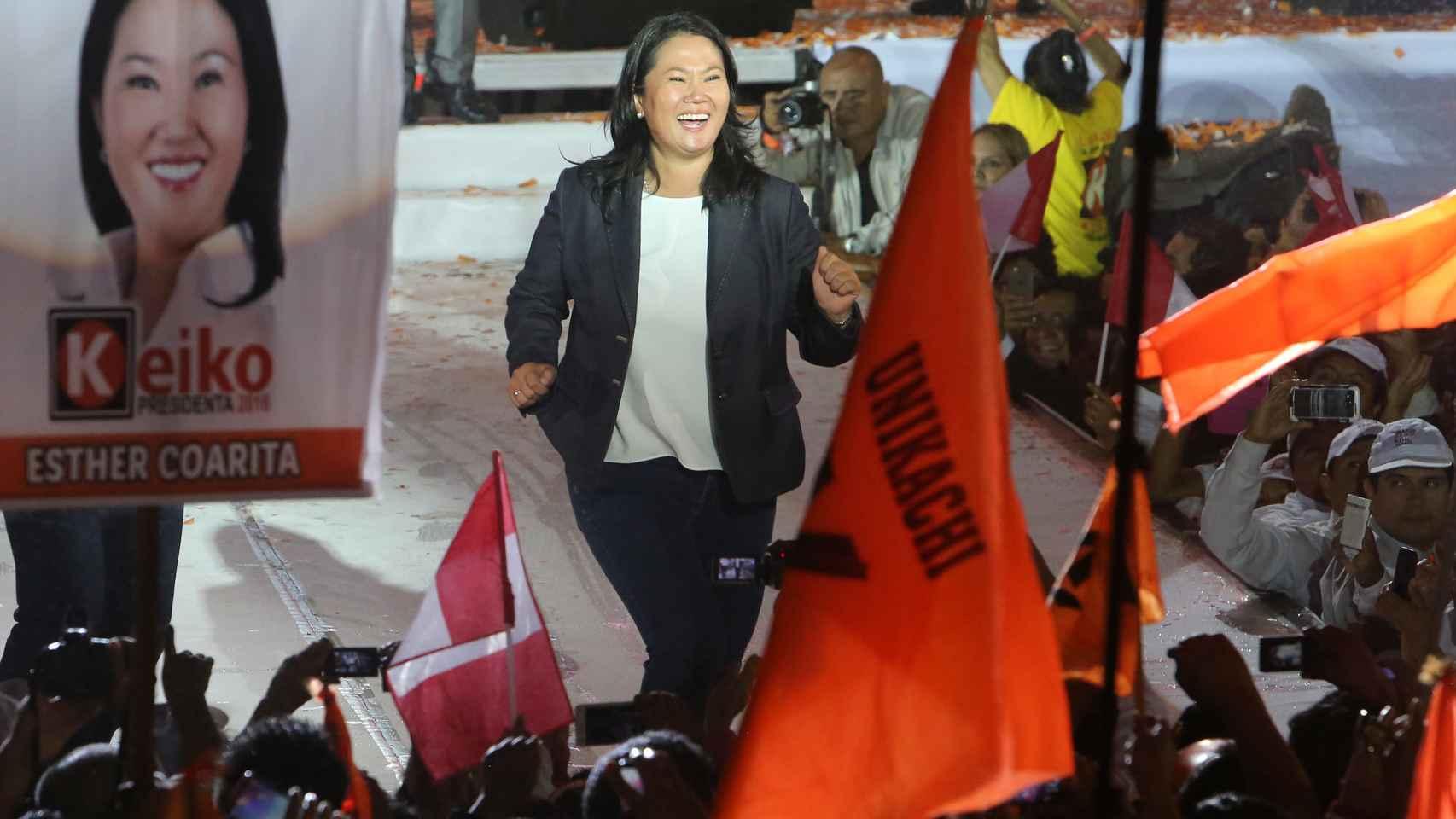 Keiko Fujimori, en un acto de campaña.