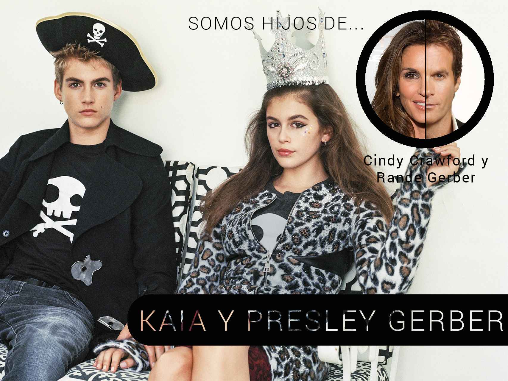 Kaia y Presley Gerber en el CR Fashion Book