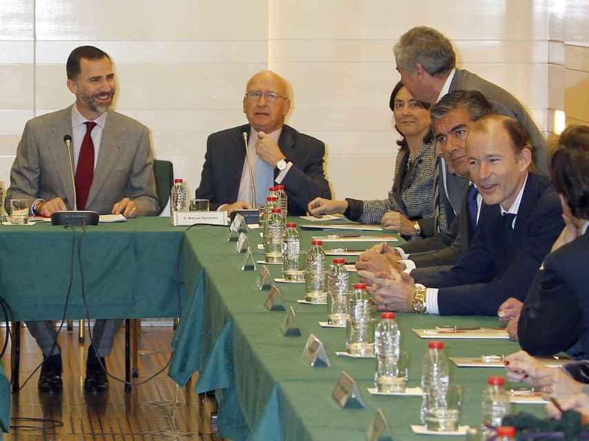 Felipe VI y Kyril de Bulgaria en un acto de la Fundación Codespa