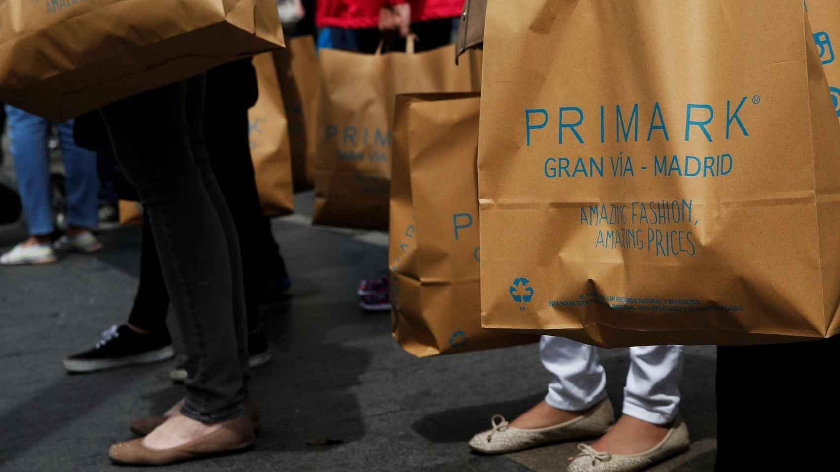Bolsas de Primark.