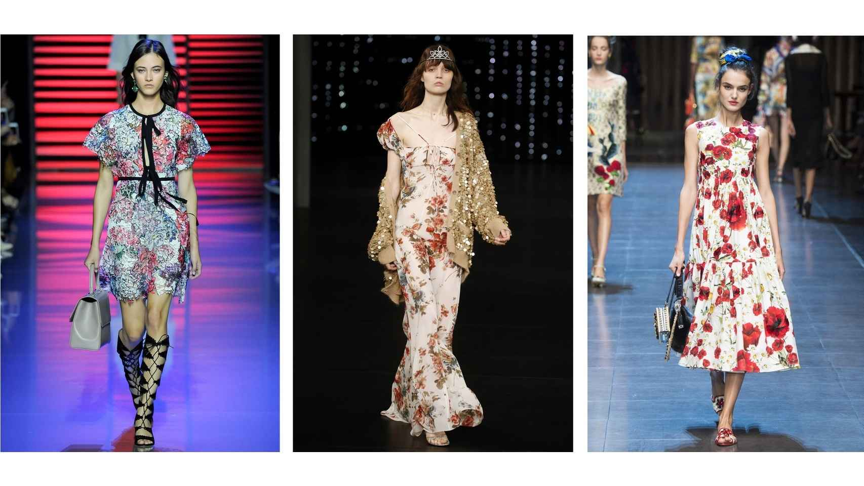 Primavera-Verano 2016 Elie Saab, Saint Laurent y Dolce & Gabbana.