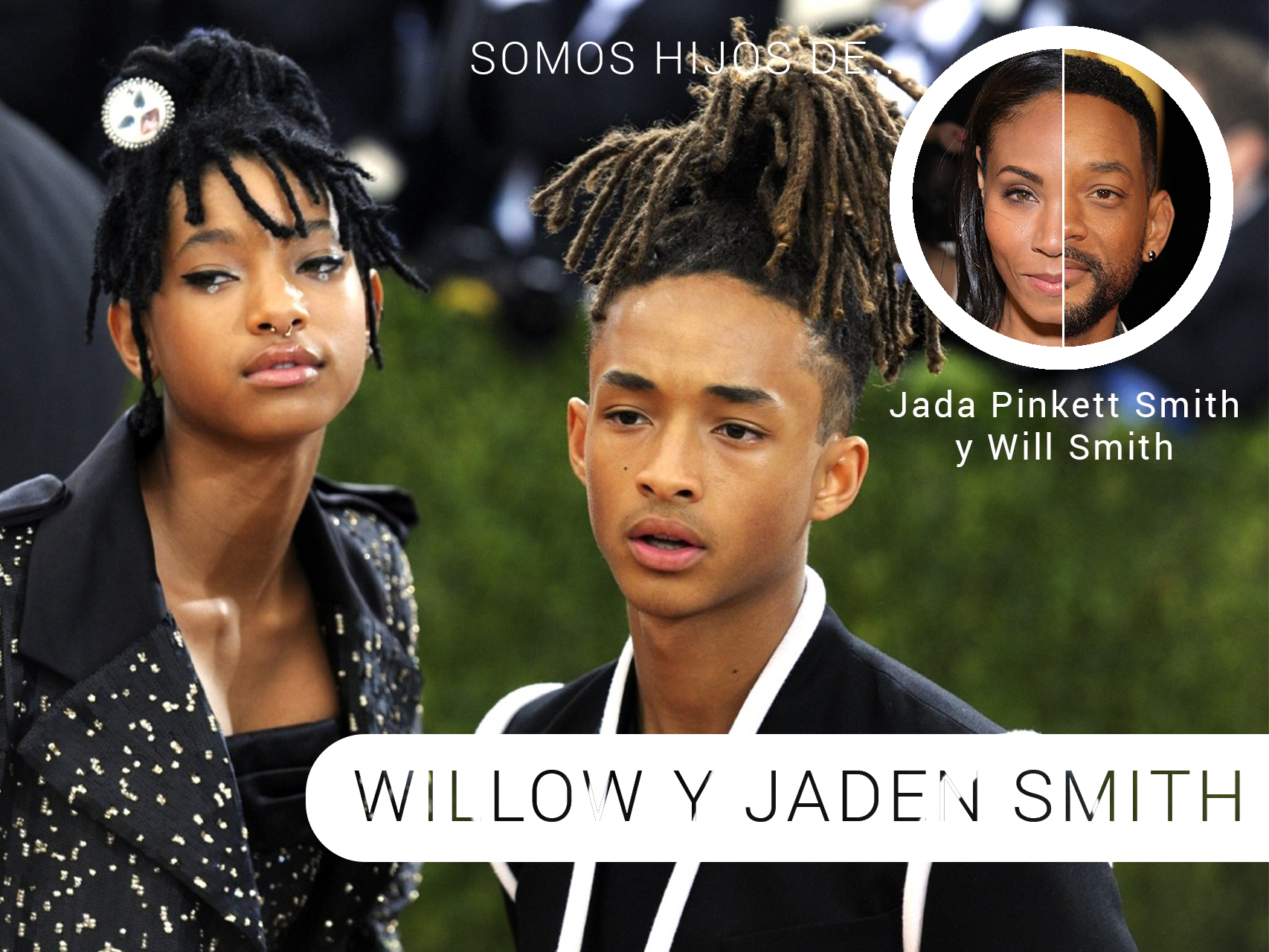 Jande y Willow Smith en la gala del Metropólitan 2016