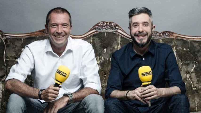 Manu Carreño y Dani Garrido, directores de El Larguero y Carrusel Deportivo.