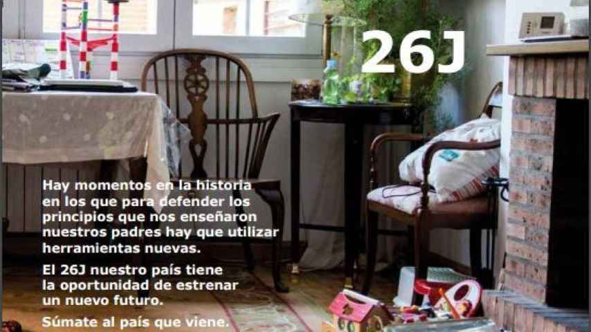 Portada del catálogo-programa de Podemos-Ikea.