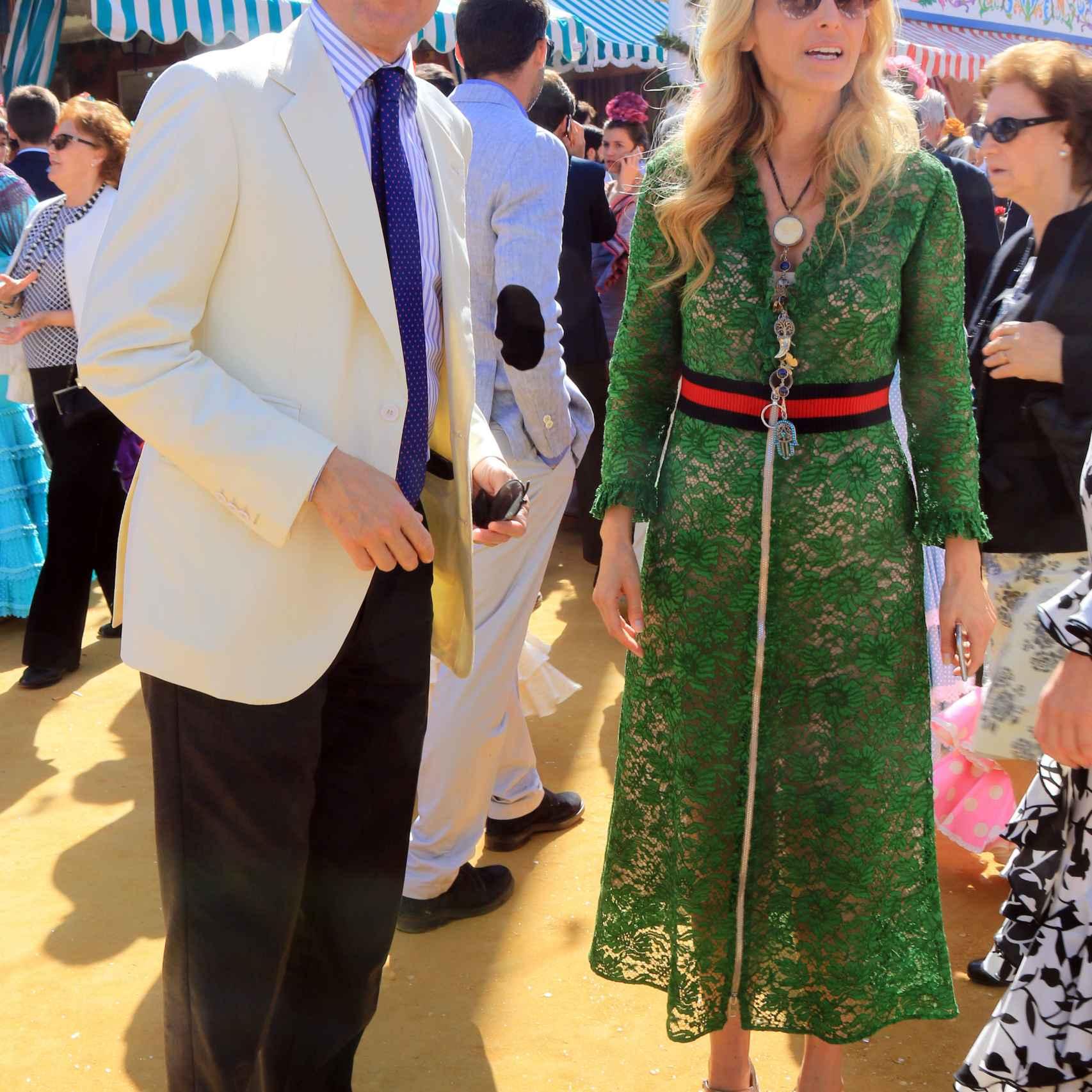 Pía Getty y José Antonio Ruiz Bermejo durante la Feria de Abril de Sevilla 2016